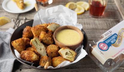 Crispy Fried Artichoke Hearts with Lemon Aioli