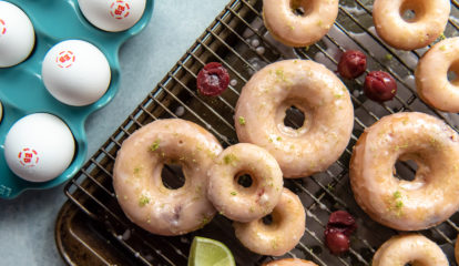 Cherry Lime Baked Donuts