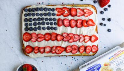 Patriotic Confetti Cake