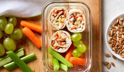 Crunchy Egg Salad Pinwheels