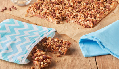 Apple Cinnamon Granola Bars with Chocolate Chips