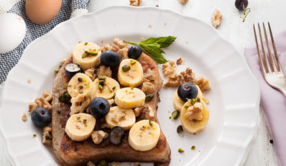 Stuffed Blueberry Banana French Toast