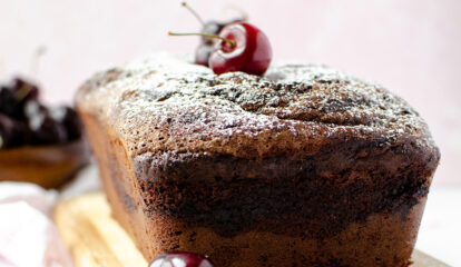 Chocolate Cherry Loaf Cake