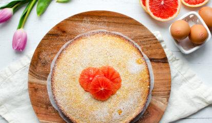 Fresh Grapefruit Olive Oil Cake
