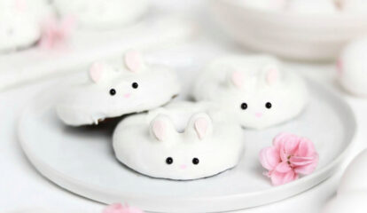 Easter Bunny Brownie Donuts