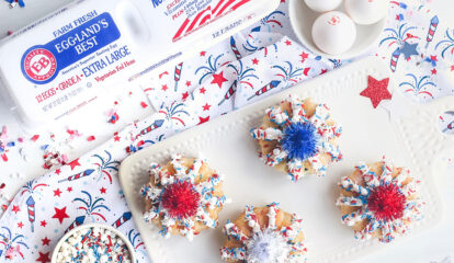 Patriotic Firework Bundt Cakes