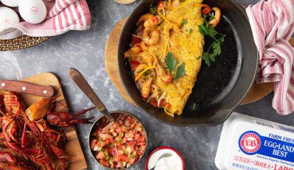 Cajun Crawfish Omelet