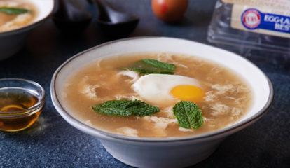 Mint Egg Drop Soup