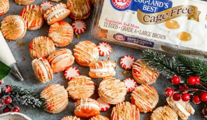 Peppermint Cheesecake Macarons