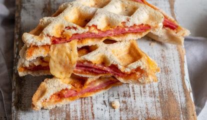 Pizza Waffle Egg Sandwiches