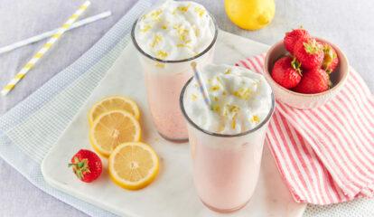 Strawberry Lemon Fluff Smoothie