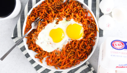 Sweet Potato Hash & EB Eggs