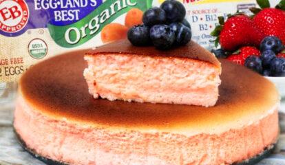 Pink Japanese Cheesecake