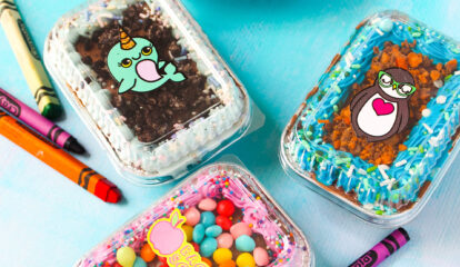 Back to School Mini Candy Tray Cakes