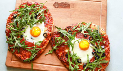 Arugula Egg Pizza