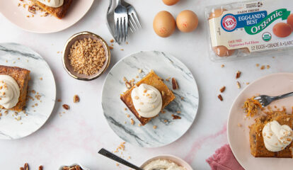 Toffee Carrot Cobbler Cake with Brown Sugar Cream