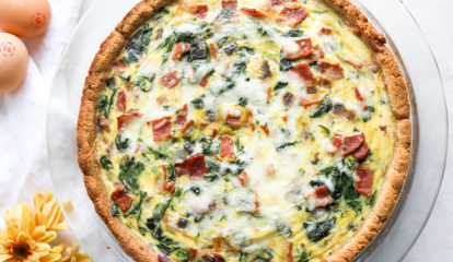 Healthy Spinach Bacon Quiche