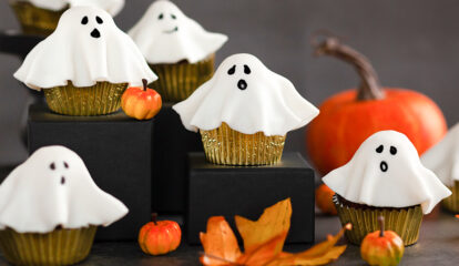 Ghostly Chocolate Cupcakes