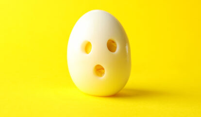 Frightfully Easy Hard-Cooked Ghost Eggs