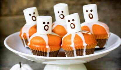 Boo-tiful Pumpkin Chocolate Cupcakes