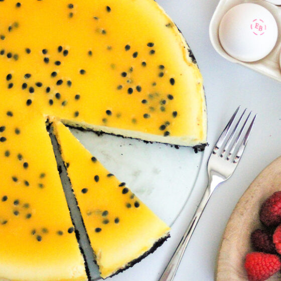 Photo of Passion Fruit Cheesecake with a Cocoa Crust