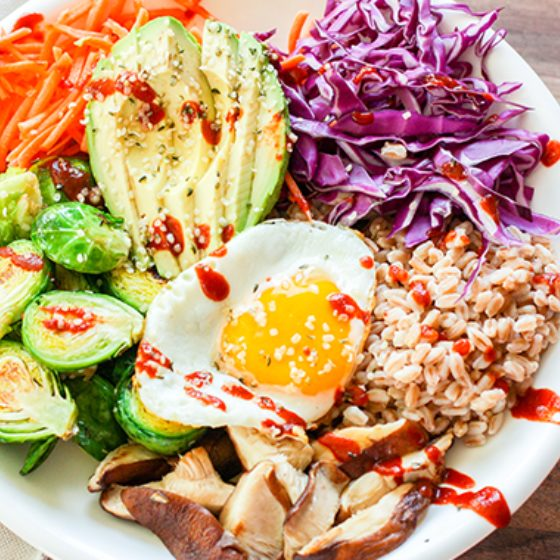 Photo of Veggie Bowl with Farro and Egg