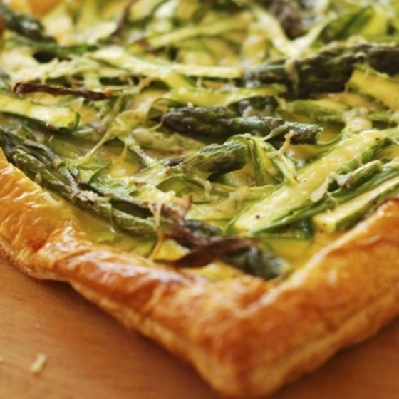 Photo of Asparagus, Ricotta and Bacon Tart