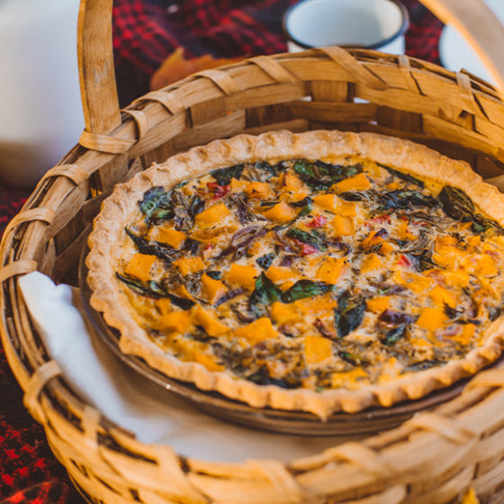 Photo of Butternut Squash & Sage Cheddar Quiche