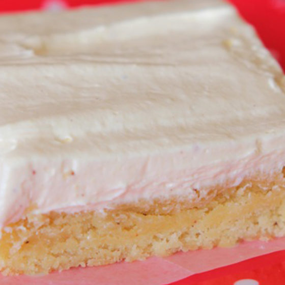 Photo of Sugar Cookie Bars with Whipped Eggnog Frosting