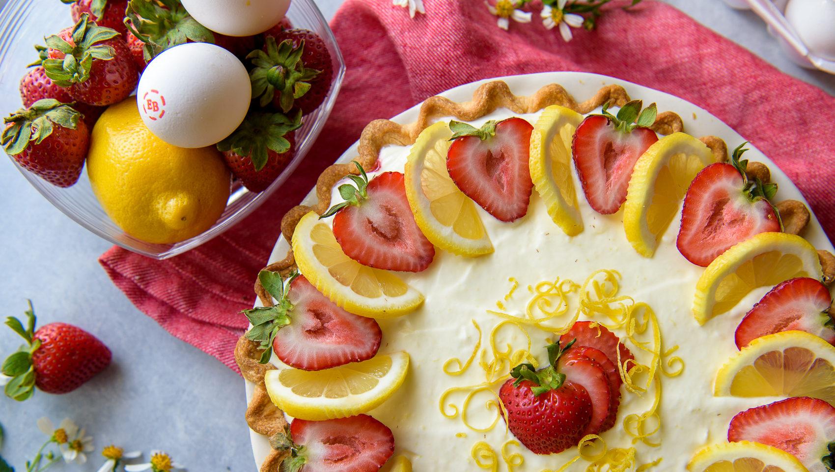 Strawberry Lemon Icebox Pie 2