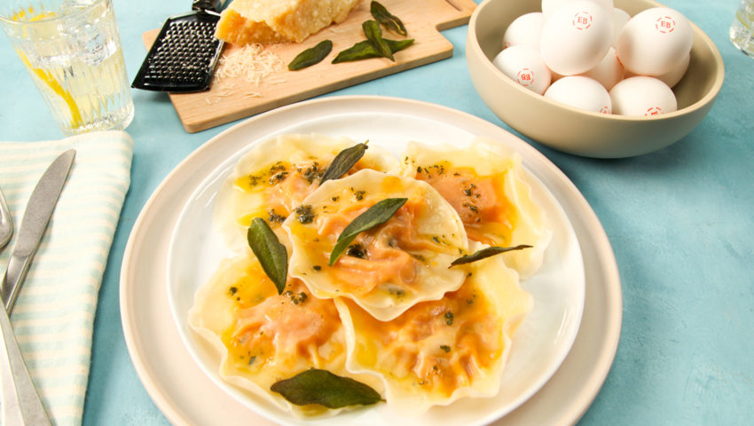 Pumpkin Ravioli with Sage Brown Butter YT