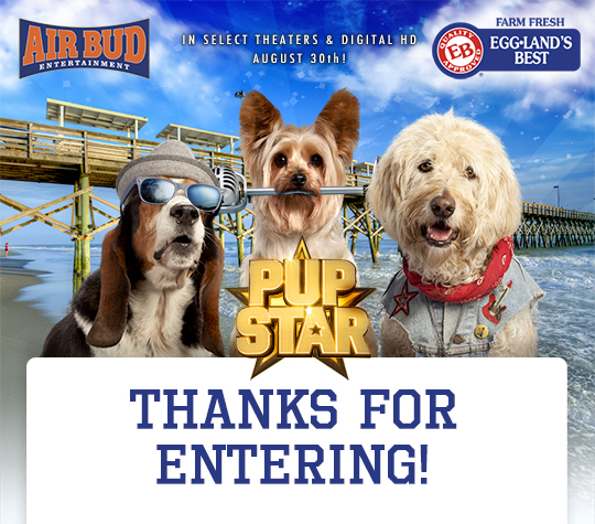 "Announcing  Winners of the ""Ultimate EB Pup Star"" Sweepstakes"