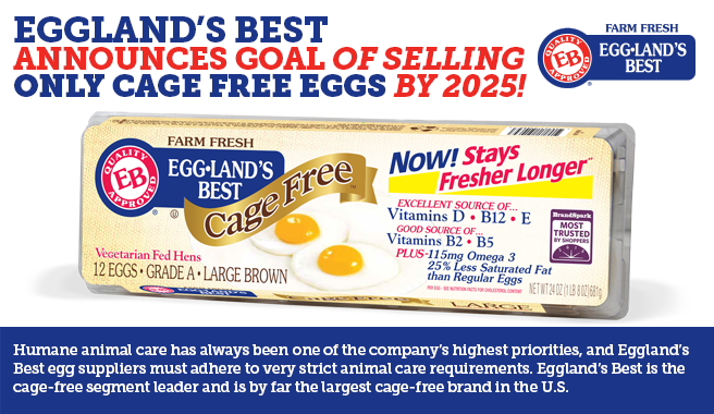 Eggland's Best Announces Goal of Selling Only Cage-Free Eggs by 2025