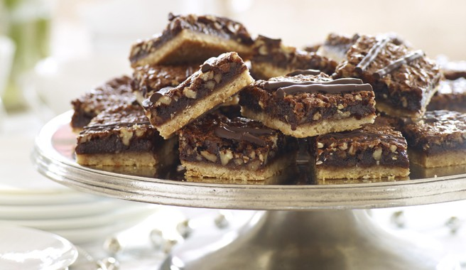 Chocolate-Pecan Pie Bars