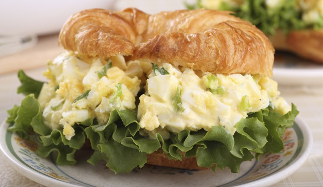 Classic Egg Salad Croissants
