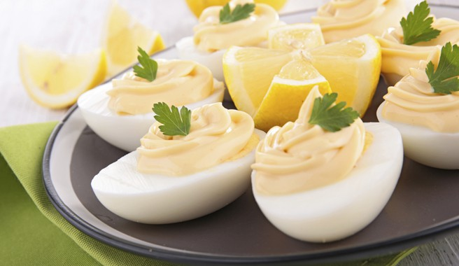Deviled Eggs with Salmon & Sour Cream