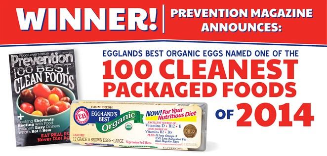 Prevention Magazine Names Eggland's Best Eggs Winner of 2014 Cleanest Packaged Foods Award