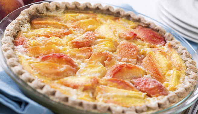 Sweet Peach Custard Pie