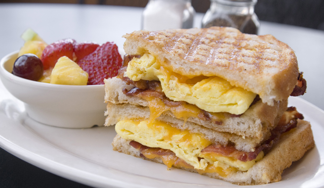 Egg, Sausage & Cheese Panini