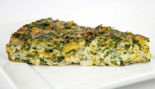 Spinach, Artichoke, and Crab Frittata