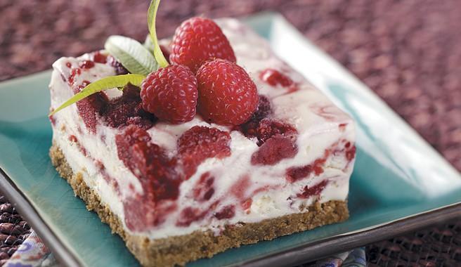Raspberry Swirl Frozen Dessert