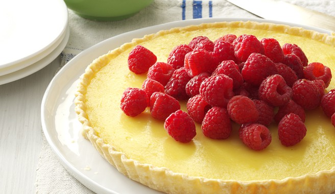 Raspberry-Topped Lemon Tart