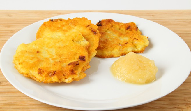 Potato Pancakes with Scrambled Eggs