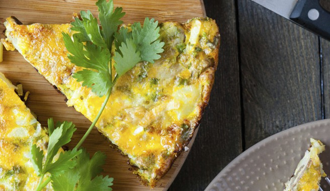 Garden Harvest Frittata with Okra