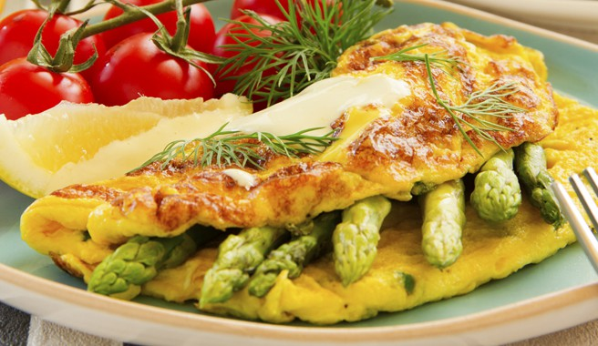 Asparagus and Herb Omelet
