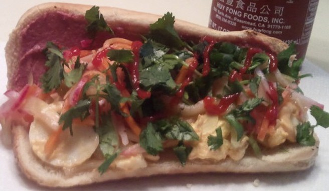 Spicy Egg Salad Bahn Mi