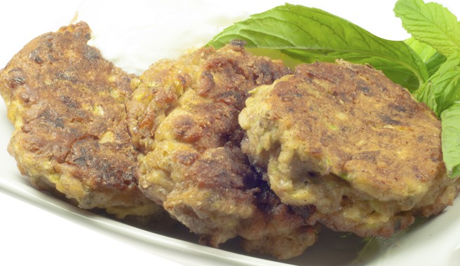 Rosemary and Goat Cheese Turkey Fritters