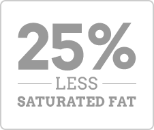 25% Less Saturated Fat
