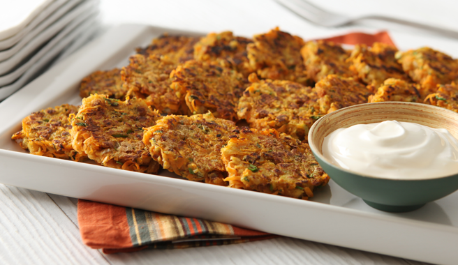 "Stuffing-Sweet Potato ""Latkes"""