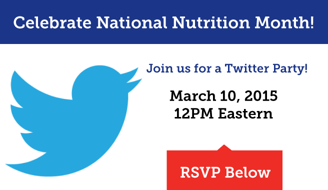 National Nutrition Month Twitter Party!